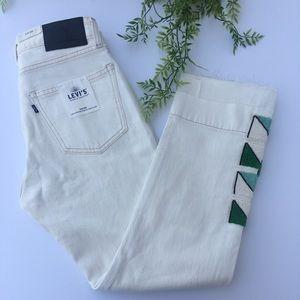 Levi's Slim Crop Hans beaded jeans